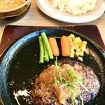 焼肉 犇こう - 宮崎牛100%ハンバーグ レア焼きも可能