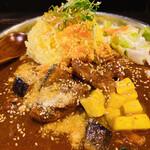 151173964 - シンバスペシャルカレー(∩´∀`∩)♡迷ったらこれね♡長芋のアチャールが美味しい!