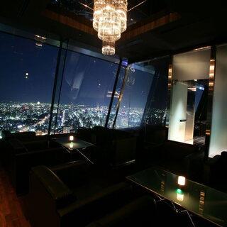 特別感溢れる夜景個室