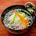 赤坂おぎ乃 - お椀 ばちこ 蕪蒸し 煮麺