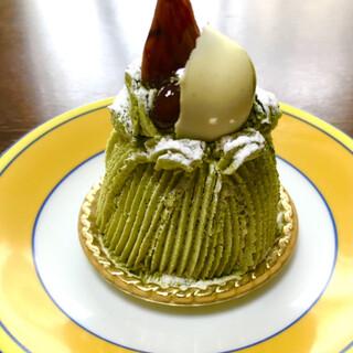 魔法のランプ - 料理写真:抹茶モンブラン