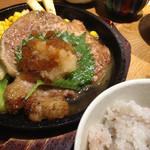 かえる食堂 蓮 - トンテキ定食 和風ソース