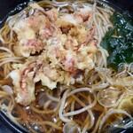 峠の蕎麦 - ゲソ天大盛540円+110円