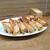 餃子荘 ムロ - 料理写真:餃子  チーズ 唐辛子入り 、にんにく、ラーチャン(台湾ソーセージ入り)