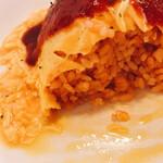 omuraisusemmonteneguron - チキンも玉ねぎもなし。ケチャップライス。