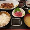 長咲や - 料理写真:日替わりランチ・メンチカツ&中おち