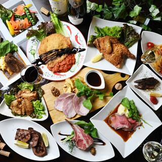 4種類(鶏・豚・牛・ジビエ)のMeat(お肉)を楽しめるお店