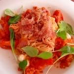 クッチーナ クラチオーネ ポッザ - フルーツトマトの冷製カッペリーニ