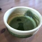 田園茶屋 いとわ - *お抹茶(+200円)、たっぷりで嬉しい。