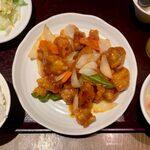 151225776 - スブタ定食 ¥800 のスブタ