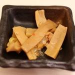 ゴル麺。 - ビールのおまけメンマ