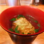 たこ八 - 明石焼き入りのスープだ。。