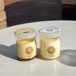 パティスリー・リリ - 料理写真:濃厚卵黄プリン&日本海塩プリン