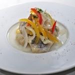ラグーン - 季節鮮魚のエスカベッシュ ¥400