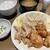やよい軒 - 料理写真:「せせりと鶏もものから揚げ定食」790円也。税込。