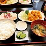 雑魚屋 - チキンタルタル定食 ¥700-