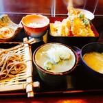 友 - 料理写真:ミニ天丼、そば御膳