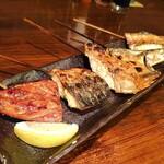 炙処 火ノ膳 - 魚串焼き 五本盛合わせ   780円 これは絶対に頼んだ方がいい。