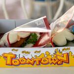 ヒューイ・デューイ・ルーイのグッドタイム・カフェ - 料理写真:2021.5 グローブシェイプ・エビカツパオ(600円)、グローブシェイプ・エッグチキンパオ(600円)