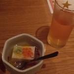 15130020 - 生ビールとゴマ豆腐
