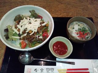 合家 - タコライス丼&ミニ沖縄そば:880円