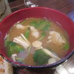 とんかつ カトレヤ - 美味しい「豚汁」