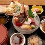天ぷら 串割烹 なかなか 室屋 - 料理写真:刺身・天ぷら御膳