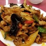京華樓 - 豚肉の四川風炒め。