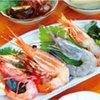花風 - 料理写真:海老刺身定食 1404円 とろける美味しさの花車海老、赤海老・天使の海老・甘海老、ホタテ刺身!