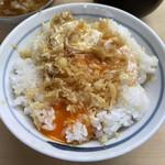 151317173 - 玉子天ぷらご飯<甘いつゆ>(「玉子ランチ」1500円))