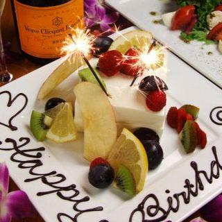 記念日・誕生日は肉ケーキorデザートプレートをサービス!