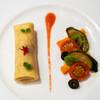 イーストサイド・カフェ - 料理写真:2021.5 ジャンボンムースのクレープ、ブラッドオレンジソース