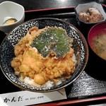 天ぷら かんだ - 貝柱天丼