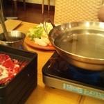 はーべすと - 鍋が既に用意されています