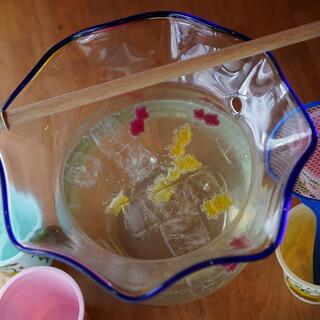 ③今日は祭り(!?)どデカい金魚鉢サワー