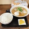 しま彰 - 料理写真:特盛中華そば ゆで卵 白ごはん(漬け物付き)