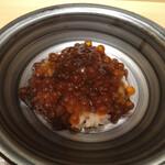 151371233 - イクラ丼、海苔の佃煮和え。