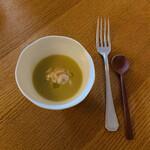 エル・バウ・デコラシオン - 濃厚な白菜のあたたかいスープと濃厚な鱈の白子。この一体感は素晴らしい(*´▽`人)