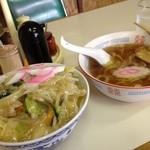 コトブキ亭 - サンマ丼と小ラーメン