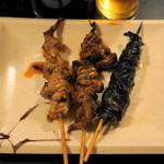 川勢 - 2012.9 バラ焼(190円)、きも焼(190円)、ヒレ焼(190円)