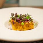 ARMONICO - 大分県白甘鯛の鱗焼き ヴェルモットとハーブのソース