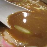 浜の麺バカ - スープは、さらさらの煮干系。