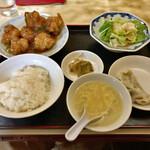 新雪園 - 鳥の唐揚甘酢辛味 800円