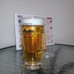 くらちゃん - たこ焼きに生ビール、間違いなく合います