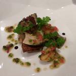 リストランテ・ホンダ - あわびとポルチーニ茸のソテー 海藻バターソース