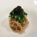 リストランテ・ホンダ - イタリア産蕎麦粉の手打ちタリオリーニ キャビアのせ
