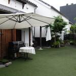 四間道レストランMATSUURA - 庭も素敵でした