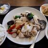 豫園飯店 - 料理写真:海老と帆立貝とイカの上海風塩炒め 大盛り食事セット