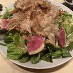肉匠 とろにく - * 紅芯大根と花カツオのサラダ 780円