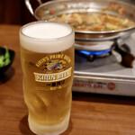 元祖台湾もつ鍋 仁 - めんどくさいのでビールはメガに変更!
